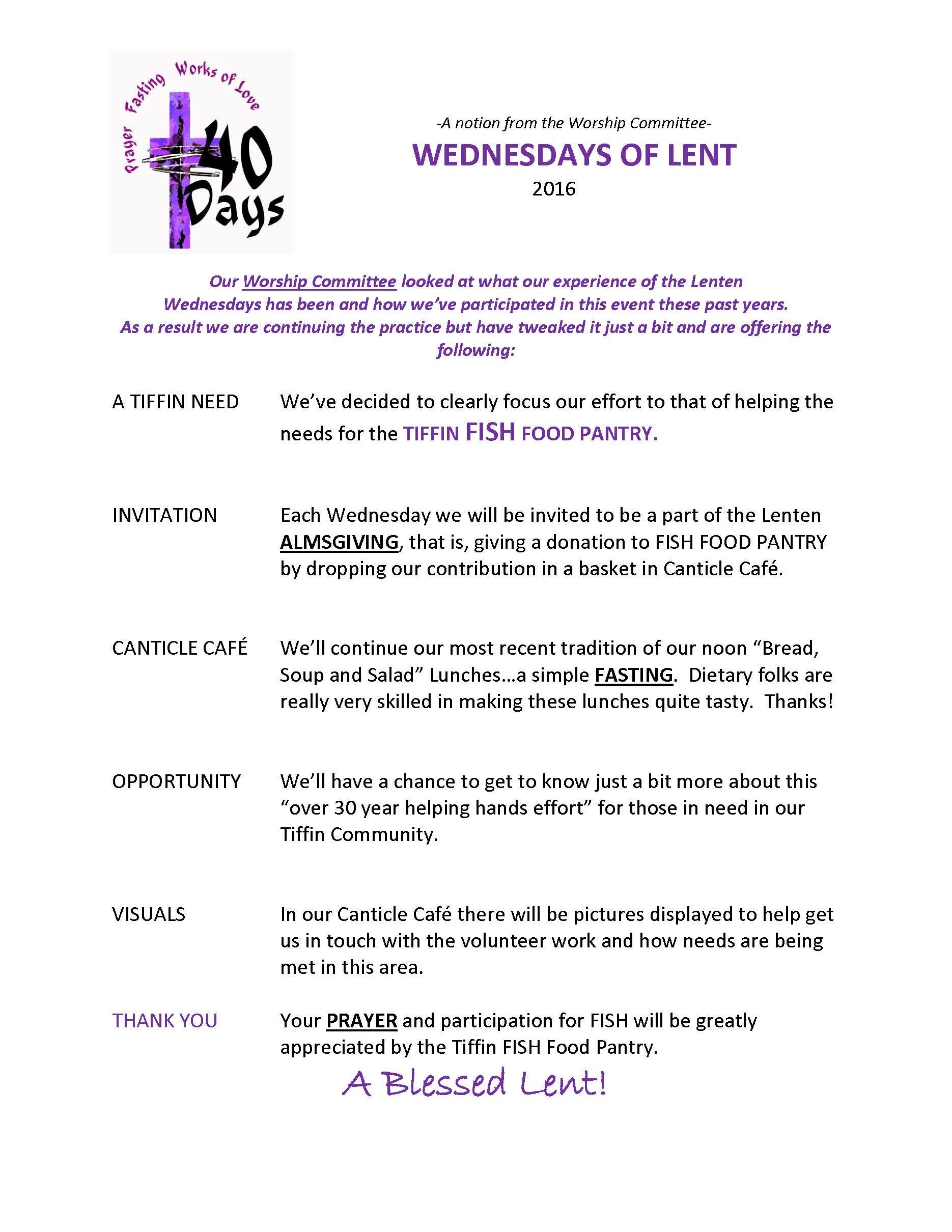 Wednesdays of Lent