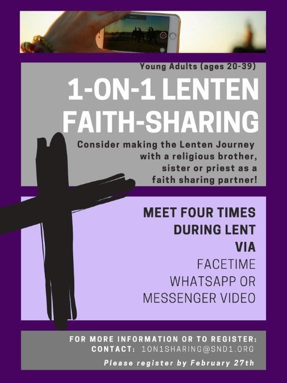 1-ON-1 Lenten Faith-Sharing