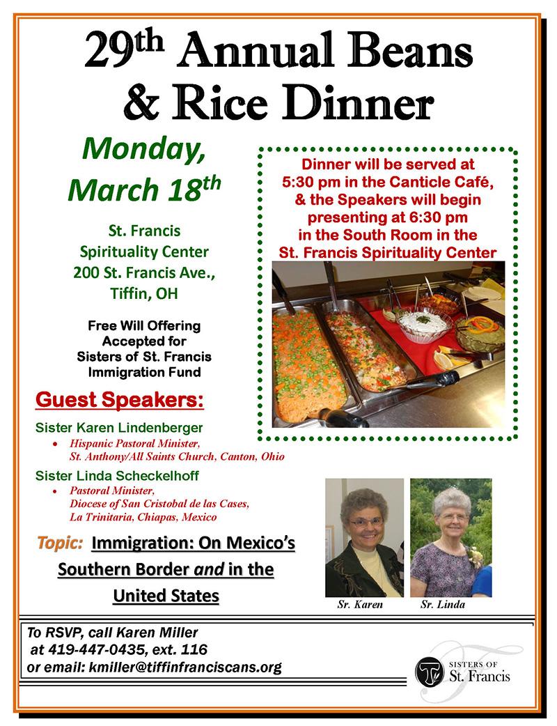 29th Annual Beans & Rice Dinner