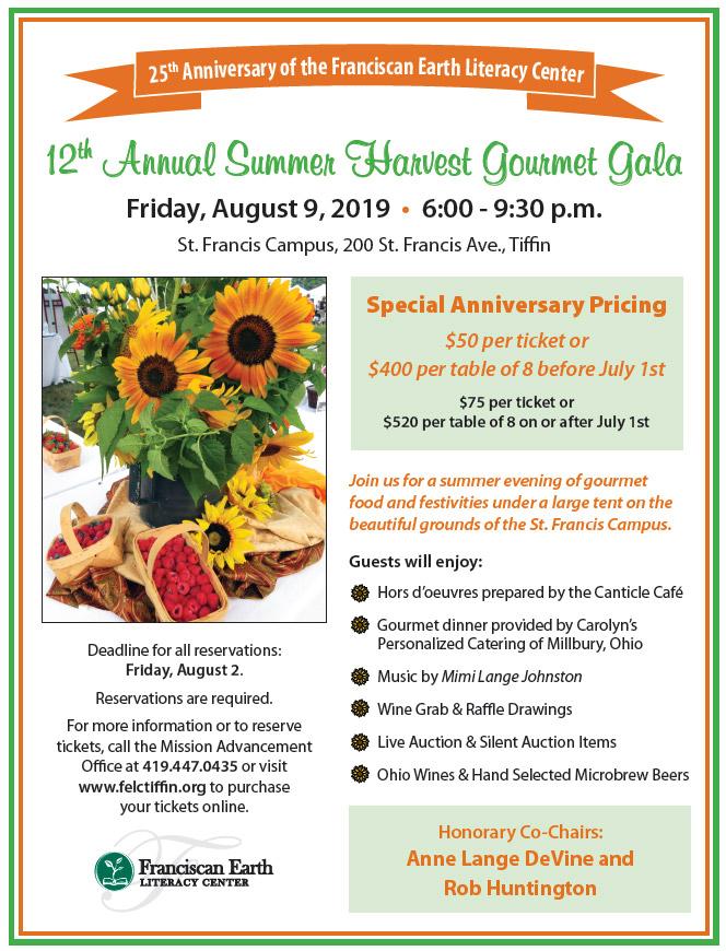 12th Annual Summer Harvest Gourmet Gala