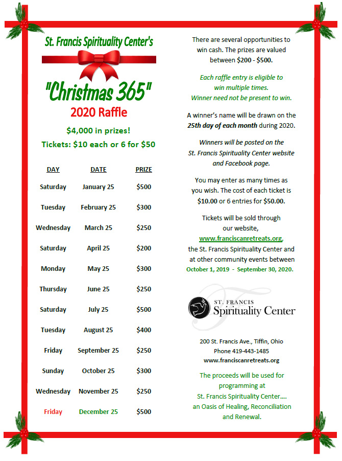 "2020 ""Christmas 365"" Raffle Fundraiser"